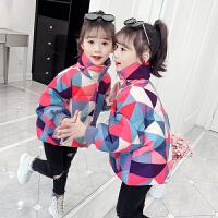 女童棉衣新款冬装儿童洋气短款羽绒中大童棉袄
