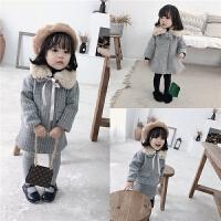 童装冬款外套童装女童呢子套装修身洋气儿童呢大衣