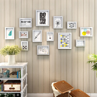 九宫格婚纱照相框挂墙7 10寸创意组合相片照片墙装饰客厅画框摆台 占强面积151*77cm