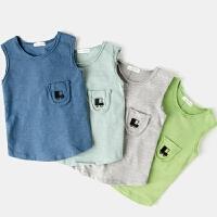 儿童背心纯棉婴儿汗衫夏季男童打底内衣无袖圆领薄款宝宝上衣夏装