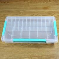 三扣多格日本透明塑料整理箱lego玩具积木零件分类盒子乐高收纳盒 小颗粒