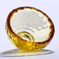 黄色水晶供水杯供佛杯藏传佛教用品供水碗供杯圣水杯口径6cm/个