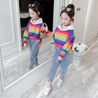女童套装秋装新款小女孩卫衣儿童秋季时髦两件套