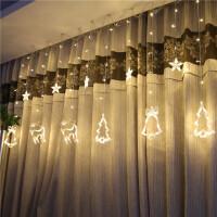 led星星灯小彩灯闪灯串灯满天星窗帘挂灯卧室浪漫房间新年装饰灯 暖白-新年套装3.5米 带尾接