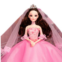 娃娃套装3D真眼玩具女孩公主大礼盒生日礼物礼盒装 高43厘米左右
