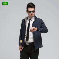 逸纯印品(EASZin)男士夹克衫 中年 短款 立领 拉链 男装外套休闲 薄款男上衣
