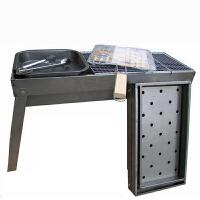 烧烤架 户外家用不锈钢木炭5人以上野外工具碳烤肉炉钢烧烤炉 烧烤架