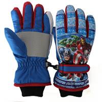 儿童手套滑雪冬加厚保暖手套水风男女童户外手套可爱