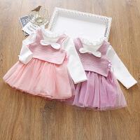 小童连衣裙长袖春秋款新款宝宝儿童公主裙春款女童网纱裙子