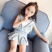 女童夏装时髦运动套装2018新款套休闲韩版儿童女三件套潮