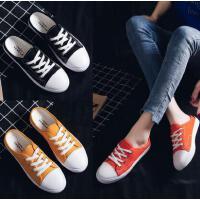 抖音同款帆布鞋女学生韩版百搭新款一脚蹬平底无后跟包头懒人半拖鞋