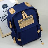 双肩帆布男包女包韩版潮书包休闲包中学生背包运动电脑包旅行帆布