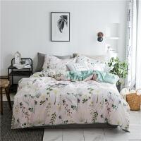 北欧小清新四件套全棉纯棉学生宿舍三件套被套1.5m米床笠床上用品 1.5m(5英尺)床 床笠款套件