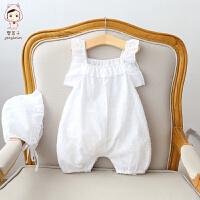 夏季宝宝连体衣婴儿爬服初生儿哈衣男女宝宝外出服
