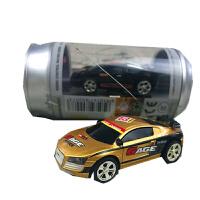 超小型可�饭捱b控�易拉罐�b控�高速迷你漂移�充��b控� 金色 40hz��新款
