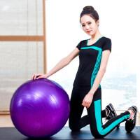 短袖健身服套装 紧身束腿裤运动跑步跳操瑜伽服女 支持礼品卡支付