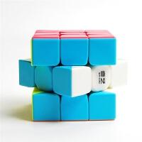 魔方格二阶三阶四阶五阶魔方顺滑实色免贴纸比赛魔方玩具套装
