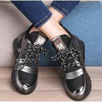 百年纪念新款运动鞋女春季韩版百搭休闲鞋子女黑色平底跑步鞋1336