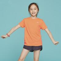 户外儿童运动T恤春夏男女童速干T恤圆领短袖透气运动服
