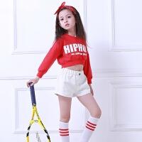 演出服装舞表演服套装女童啦啦操服装少儿儿童嘻哈街舞爵士舞