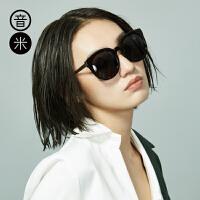 inmix音米圆形镜框太阳镜 时尚潮流偏光复古墨镜眼镜5042