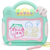 婴幼儿玩具 彩色音乐磁性画板玩具绘画板宝宝儿童益智早教礼盒装生日礼物 颜色随机