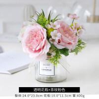 创意家居假花仿真花客厅装饰品摆设店铺玫瑰插花花艺餐桌花束摆件