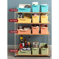 杂物收纳筐桌面零食储物盒塑料化妆品收纳盒浴室厨房整理盒置物架