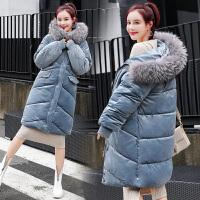 羽绒服 新品女大毛领棉衣女士中长款2018冬装新款韩版加厚羽绒外套潮