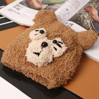 新款韩版秋冬季保暖男女孩儿童卡通毛线可爱熊帽子