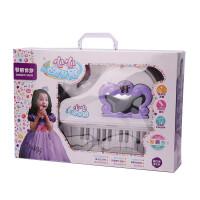 宝宝早教迷你灯光钢琴带麦克风可外接USB玩具梳妆台mp3儿童电子琴女孩玩具 梳妆钢琴