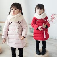 女童汉服旗袍连衣裙夹棉加厚冬装新款中国风棉衣棉袄新年装