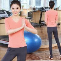 瑜伽服速干健身房服 跑步运动服女瑜珈显瘦长袖上衣 支持礼品卡支付