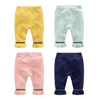 婴儿裤子春装女童打底裤3个月宝宝长裤新生儿裤子