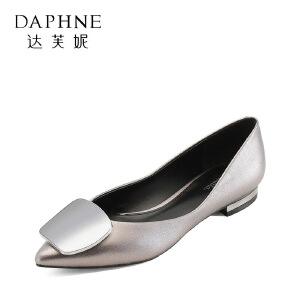 Daphne/达芙妮 杜拉拉春夏尖头套脚平底时装女单鞋