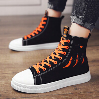 男童板鞋秋季�和�布鞋男孩高�托蓍e帆布鞋