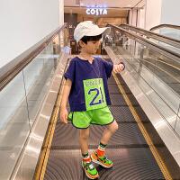 男童夏装套装篮球运动服儿童夏季短袖足球