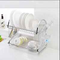 厨房用品多功能S型双层碗碟架/碗架9字型碗架餐具架/厨房收纳