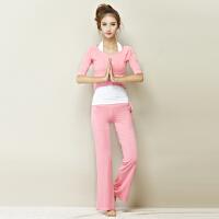 瑜伽服套装春夏新款瑜珈服女健身服练功舞蹈服三件套大码