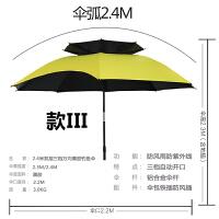 钓鱼伞法垂钓2米2.2米黑胶防晒防风防雨双层万向