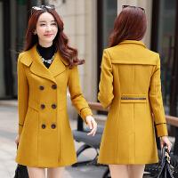 离子大衣外套女修身CS冬天长袖冬装娃娃翻领冬衣韩版毛呢范茧型潮