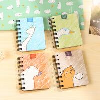 韩国文具学生侧翻线圈本 笔记本子 便携记事本 小本子