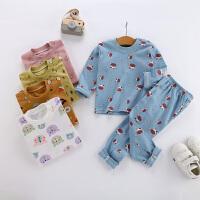宝宝女童内衣套装打底儿童家居服男童睡衣