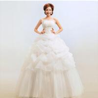 韩版婚纱礼服 新款抹胸韩式公主显瘦婚纱 新娘大码