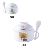一个 陶瓷饭盒微波炉便当盒饭碗瓷碗泡面杯碗带盖杯汤碗勺筷
