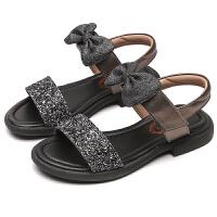 童鞋真皮儿童凉鞋露趾夏季软底中大童学生公主凉鞋