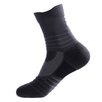 篮球运动袜 袜男士棉袜加厚毛巾底耐用跑步袜中短筒休闲袜子