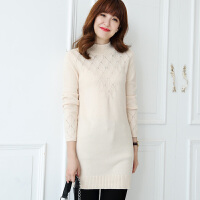 秋冬季韩版高领毛衣女紧身打底衫百搭长袖中长款羊绒衫显瘦套头