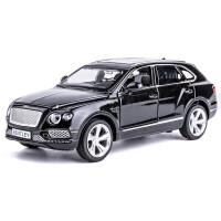吉普车合金车模 仿真汽车模型玩具车车模型摆件小汽车 宾利 添越 香槟黑 (散装)