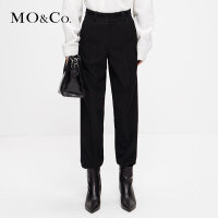 MOCO冬季新品个性拼接纯色休闲西裤MA184PAT108 摩安珂